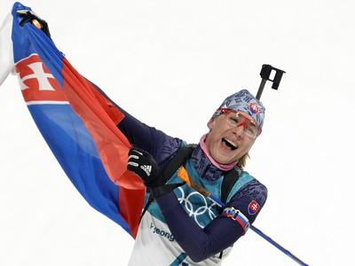 Anastasia Kuzminová v cieli