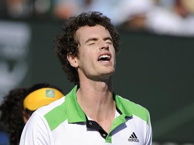 Sklamaný Andy Murray