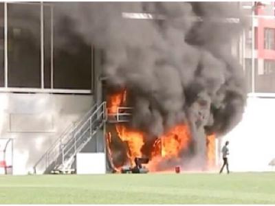 Požiar na štadióne Andorry