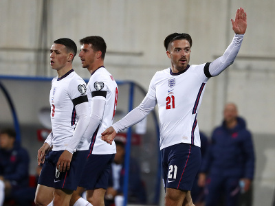 Jack Grealish oslavuje gól