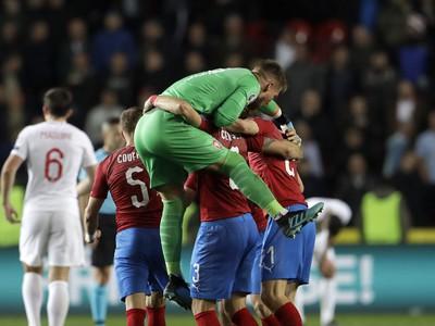 Víťazné oslavy českých futbalistov