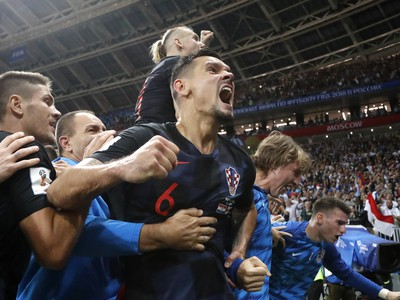 Oslavy Chorvátov po postupe