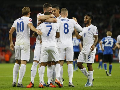 Radosť hráčov Anglicka