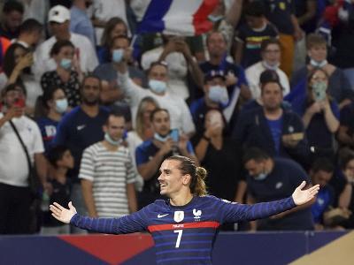 Antoine Griezmann po strelení gólu