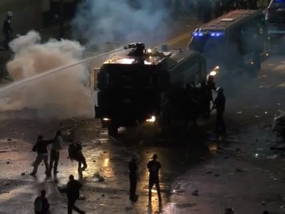 Protesty argentínskych priaznivcov po