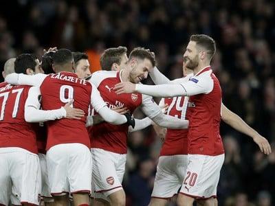 Hráči Arsenalu radujú z víťazstva
