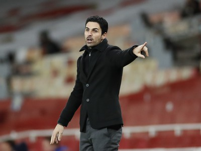 Tréner Arsenalu Mikel Arteta