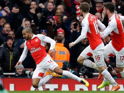 Radosť hráćov Arsenalu Londýn