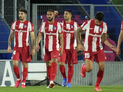 Hráči Atlética Madrid oslavujú gól
