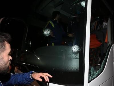Autobus s futbalistami Fenerbahce
