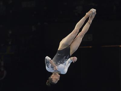 Slovenská gymnastka Barbora Mokošová