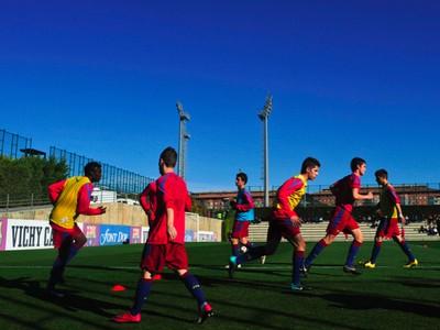 Tréning barcelonskej akadémie La