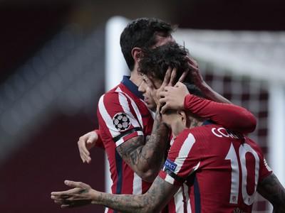 Hráči Atlética sa radujú z gólu