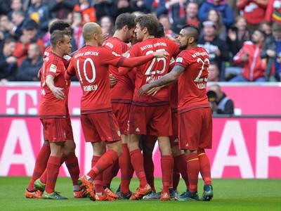 Radosť hráčov Bayernu
