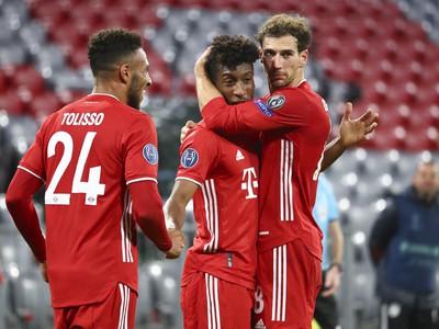 Hráči Bayernu pri oslave