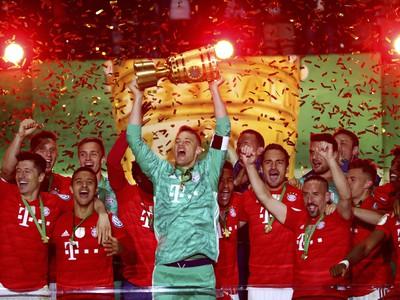 Víťazné oslavy futbalistov Bayernu