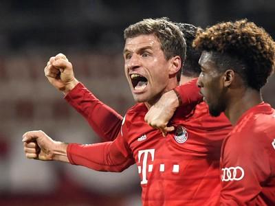 Thomas Müller oslavuje gól