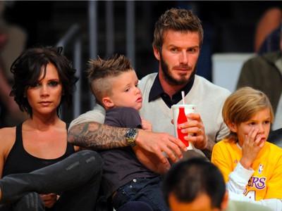David Beckham s rodinou