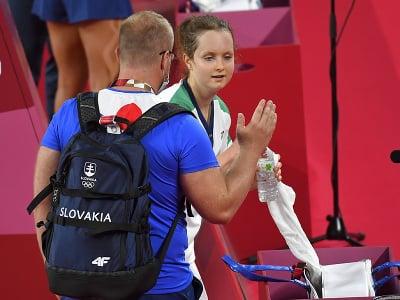 Na snímke slovenská reprezentantka v bedmintone Martina Repiská s trénerom Michalom Matejkom