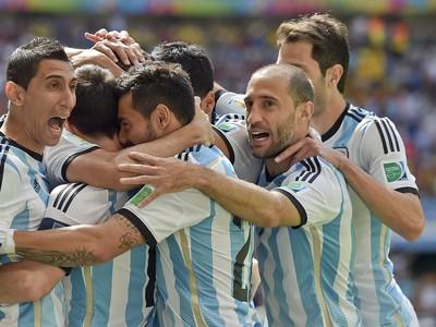 Radosť hráčov Argentíny po