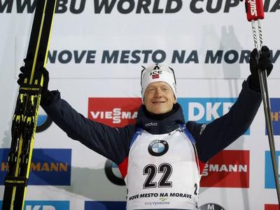 Nórsky biatlonista Johannes Thingnes