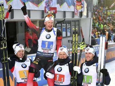 Nórska štafeta oslavuje víťazstvo