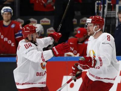 Gólové oslavy hráčov Bieloruska
