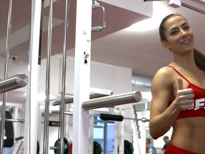 Slovenská reprezentantka v bikini fitness Timea Trajteľová
