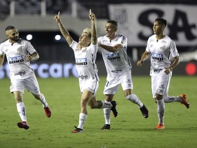 Radosť hráčov FC Santos