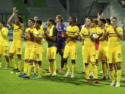 Hráči Dortmundu sa radujú