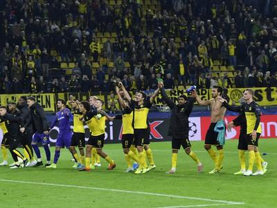 Ďakovačka hráčov Borussie Dortmund