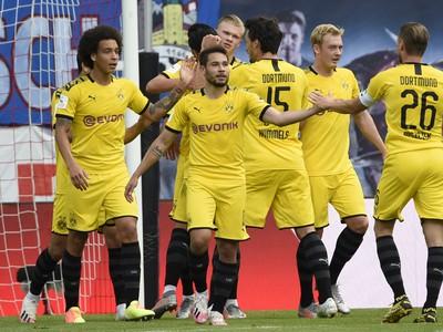 Hráči BVB po strelenom góle