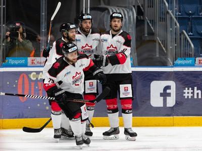 Radosť hráčov Bratislava Capitals
