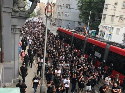 Fanúšikovia PAOK Solún v Bratislava