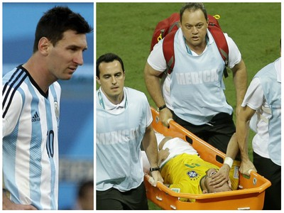 Messi a zranený Neymar