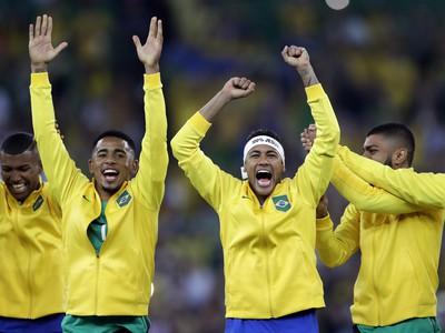 Neymar oslavuje zlato so