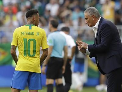 Neymar a brazílsky kouč