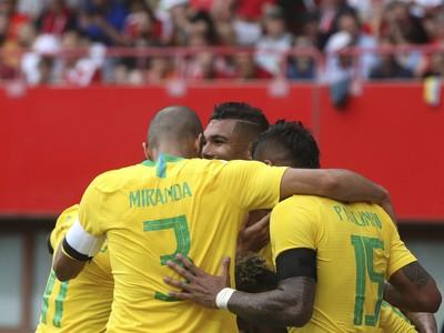 Radosť hráčov Brazílie