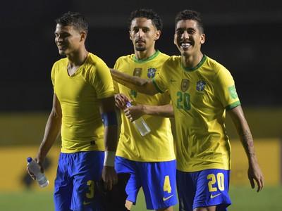 Radosť hráčov Brazílie po víťazstve