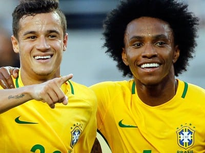 Philippe Coutinho a Willian