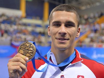 Na snímke slovenský boxer