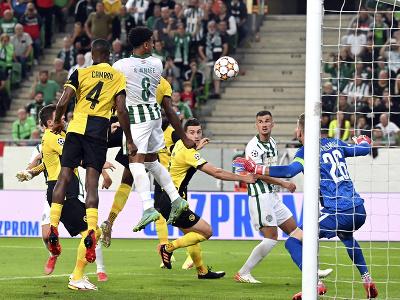 Ryan Mmaee strieľa gól do siete Young Boys