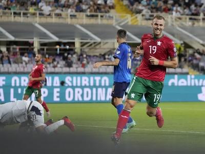 Bulharský hráč Atanas Iliev(vpravo)