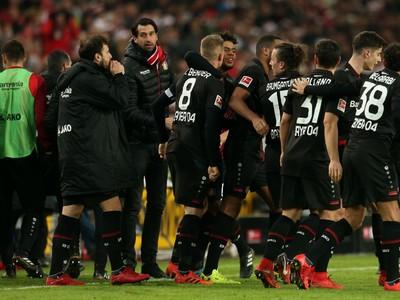 Gólové oslavy futbalistov Leverkusenu