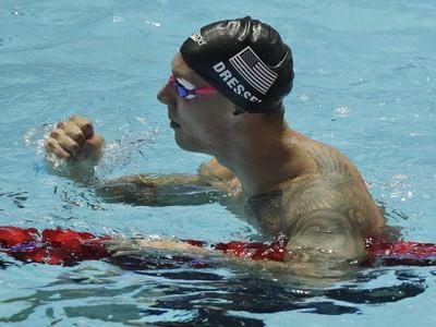 Americký plavec Caeleb Dressel