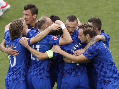 Radosť hráčov Chorvátska