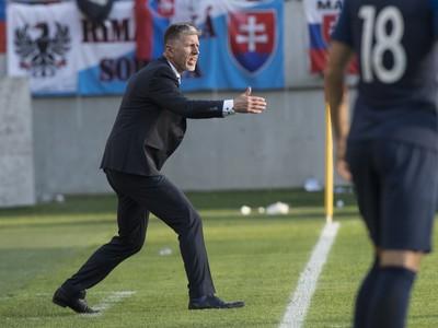Na snímke tréner českej
