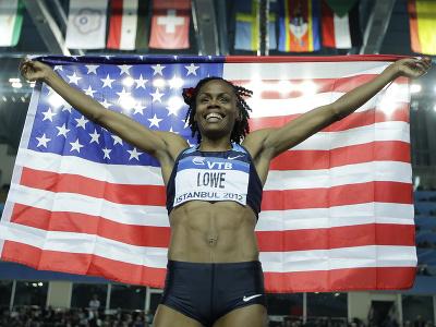 Americká atlétka  Chaunté