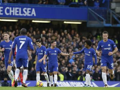 Hráči Chelsea sa tešia