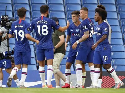 Radosť futbalistov Chelsea